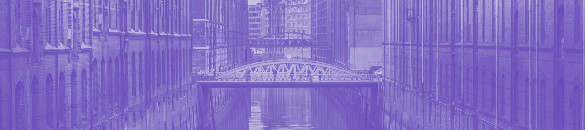 White Arc Bridge Between Building